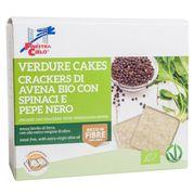 Ovsené keksy so špenátom a čiernym korením BIO 250g La Finestra