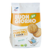Raňajkové špaldové keksy s cícerom a kokosom BIO 250g La Finestra