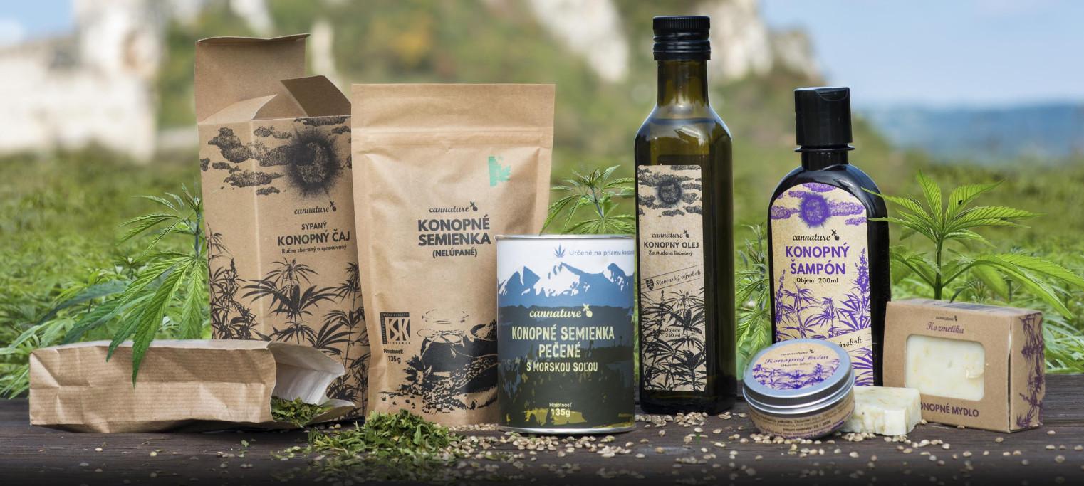 konopné produkty zo Slovenska
