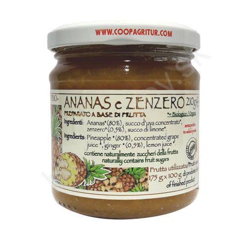 Ananásový džem so zázvorom TOP BIO 210g Agritur