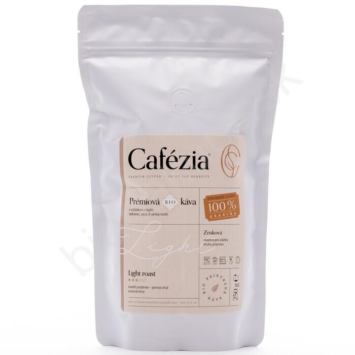 Cafézia Sarah blend zrnková s výťažkom z bylín 227g