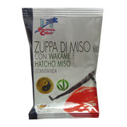 Miso instantná polievka s Wakame a Hatcho miso BIO 8g La Finestra