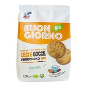 Raňajkové špaldové keksy s cícerom a kúskami čokolády BIO 250g La Finestra
