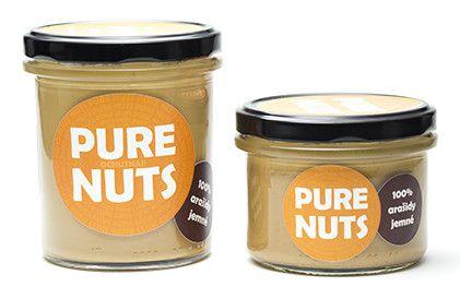 Arašidové maslo jemné 330g Pure Nuts