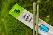 Bambusové slamky dvojbalenie Mobake