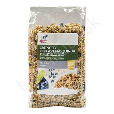Crunchy granola quinoa a čučoriedky BIO 375g La Finestra