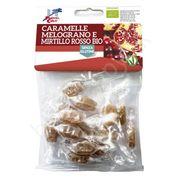 Cukríky s granátovým jablkom a brusnicami BIO 50g La Finestra