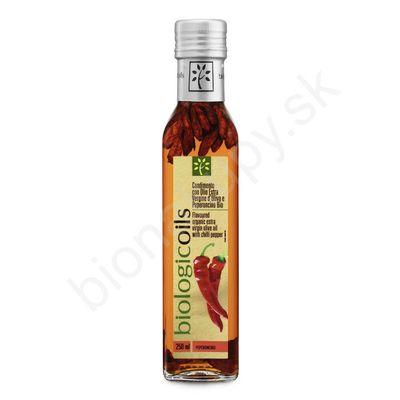 Extra panenský olivový olej s chilli papričkami BIO 250ml Biotuscany