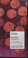 Horká čokoláda s brusnicami 70% BIO 100g Vivani
