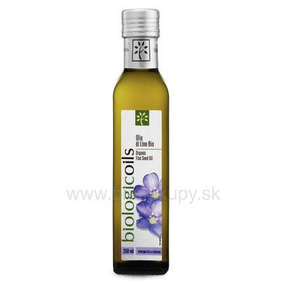Ľanový olej BIO 250ml Biotuscany