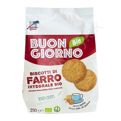 Špaldové celozrnné keksy BIO 250g La Finestra