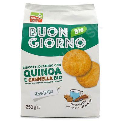 Špaldové keksy s quinou a škoricou BIO 250g La Finestra