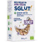 SGLUT Crunchy bezlepková granola kokos BIO 250g