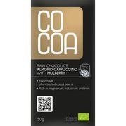Surová čokoláda cappuccino s mandľami a morušou RAW BIO 50g Cocoa