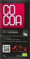 Surová čokoláda s goji RAW BIO 50g Cocoa