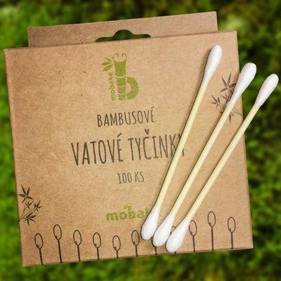 Bambusové vatové tyčinky 100ks Mobake