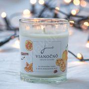 Vianočnô - sójová sviečka Jemnô